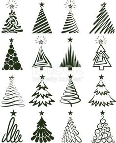 Copy on chalkboard - Christmas Tree Collection Royalty free vector graphics royalty-free stock vector artChristmas Tree Collection Lizenzfreie Vektorgrafiken Lizenzfreies vektor illustration Source by taylUno gigante para la pared Various Christmas T