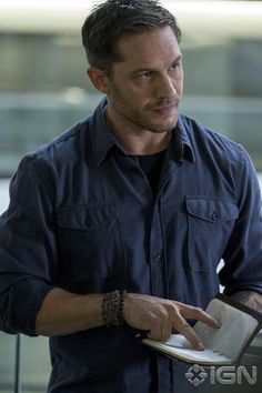 First official image from Venom. Tom Hardy as Eddie Brock.