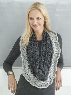 Crochet Two Way Ribbed Scarf - Free Pattern