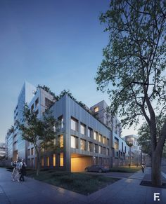 Street View of the Project - Housing, architecture visualization, Housing design