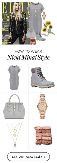 """""""Flawless Beauty"""" by bryleq4484 on Polyvore featuring Nicki Minaj, Timberland, Bobbi Brown Cosmetics, Burberry, Pier 1 Imports and plus size dresses"""