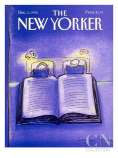 The New Yorker Cover - December 1990 Poster Print by Eugène Mihaesco at the Condé Nast Collection The New Yorker, New Yorker Covers, Capas New Yorker, Graphic Design Magazine, Magazine Cover Design, Good Books, Books To Read, New Yorker Cartoons, Magazine Illustration
