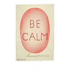 """<p>Affiche Be calm, illustration par l'artiste Louise Bourgeois, <span style=""""color: #666666; font-family: Arial,Helvetica,sans-serif;"""">photo par Christopher Burke, <br /> Copyright ADAGP, Paris 2015</span>, éditée par OMM Design. Pour apporter de la douceur et du calme à votre intérieur. On aime ce message et le côté authentique de cette affiche.</p> <p><em><br /></em></p> <p>&l..."""