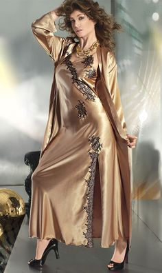 Satin is Sexy Pyjama Satin, Satin Nightie, Silk Chemise, Satin Sleepwear, Satin Gown, Satin Dresses, Lingerie Vintage, Pretty Lingerie, Beautiful Lingerie