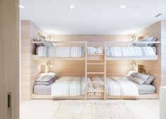 A Spacious, Light-Filled Mountain Retreat With Danish Influence and a Soft Colour Palette (Nordic Design) Built In Sofa, Built In Bunks, Vancouver House, Bunk Rooms, Bedrooms, Home And Family, Family Homes, Family Ski, New Homes