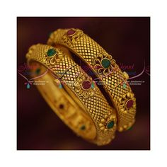 Broad Antique Gold Plated 2 Pcs Set Bangles Screw Open Floral Jewellery Width of each bangle is 14 mm. As shown in picture this is a 2 pcs set bangles Size of the bangle can be chosen at the drop down menu available just near the add to cart butto Zombie Comedy, Beautiful Dress Designs, Gold Plated Bangles, Gold Ornaments, Comedy Movies, Gold Fashion, Matte Gold, Gold Jewellery, Indian Jewelry
