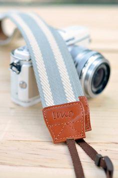 Gray camera strap. $22.00, via Etsy.