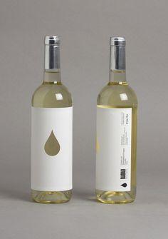 die cut minimal wine label design #packaging #selfadhesives #design