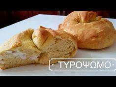 Μαλακό και αφράτο τυρόψωμο για κολατσιό στο σχολείο! - Daddy-Cool.gr Cheese Bread, Greek Recipes, Bagel, Cooking, Food, Breads, Youtube, Trust, Skinny