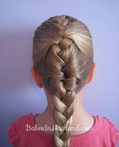 """French Braid """"Cheat""""    Althoguh I always had ten thumbs when it came to cool hair styles for my girls, I always admried my sister and her daughters who could do this in a snap! I think this is a really classic do!"""