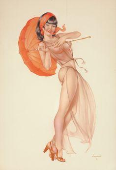 Alberto Vargas Oriental Beauty, Playboy pin-up, 70s