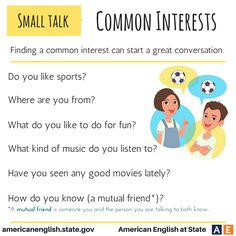 Conversations - Small Talk: Common Interests