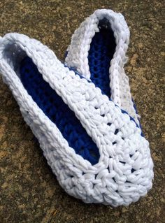 Chunky Crochet Slipper 20 e1344198522764 T shirt Yarn Crochet Slippers Pattern and Tutorial