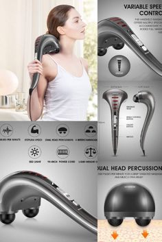 Powerful and effective handheld massager which can be used to massage anywhere in your body. the massager comes with a powerful motor that can provide up to 3500 pulses per minute. The high speed and the intensity of the massager help to reduce the pain of your body instantly. The Dual Head Percussion has been working much more effectively on muscle pain relief and relaxation compared to a single head