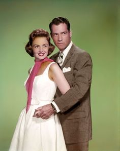 """Vintage Glamour Girls: Donna Reed & Carl Betz in """" The Donna Reed Show """" Vintage Tv, Vintage Glamour, Olivia Havilland, The Donna Reed Show, Tv Moms, Gloria Dehaven, Celebrities Then And Now, Classic Tv, Classic Films"""