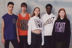 <p>Opening Ceremony opted for a show at the New York City Ballet instead of on a runway this year, but that didn't stop them from urging people to engage in the political, via their latest collection. (Photo: Opening Ceremony) </p>