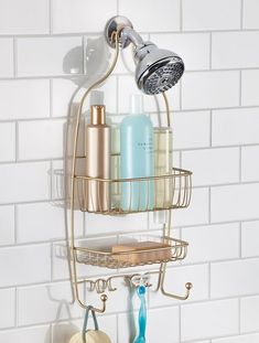 Shower Caddy Bathroom Organizer Shelf Storage Soap Shampoo Holder Rack Bath for sale online Glass Shower Shelves, Glass Shower, Bathroom Organisation, Shower Accessories, Amazing Bathrooms, Shower Shampoo Holder, Shower Holder, Bath Organization, Bathroom