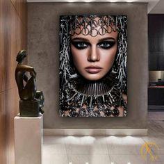 Diy Wall Art, Wall Art Decor, Art Nouveau Mucha, Cobra Art, Romantic Master Bedroom, Classic Living Room, Steampunk Lamp, Woman Bedroom, Foto Art