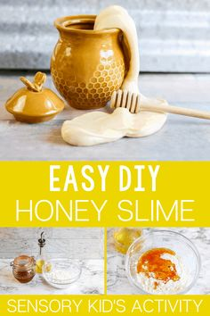 Bee Activities, Preschool Themes, Edible Slime, Diy Slime, Honey Shop, Honey Recipes, Slime Recipe, Bee Theme, Fauna