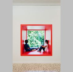 window box in childcare center by MAGK + illiz architektur, maria enzersdorf, austria Bibliotheque Design, Interior Paint Colors, Interior Painting, Learning Spaces, Farmhouse Interior, Living Room Paint, Living Rooms, Kid Spaces, Best Interior