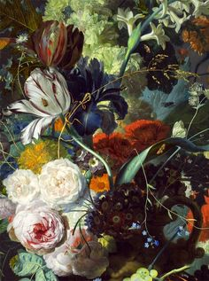 LARGE SIZE PAINTINGS: Jan VAN HUYSUM Still Life with Flowers and Fruit 1715
