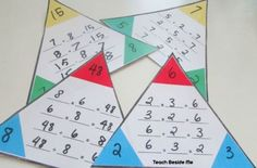 Free printable triangle math fact cards