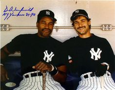 Dave Winfield New York Yankees with Don Mattingly