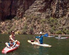 Great day playing on beautiful Canyon Lake, Arizona.  #sup #supaz #bogaboards #kialoa #intova #fanaticsup #canyonlake #arizona