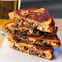 grilled cheese with gouda roasted mushrooms and onions. MMMMM