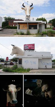 This unique abandoned ice cream stand on Detroit's Mack Avenue   Scooped: 12 Chilled Out Abandoned Ice Cream Stands