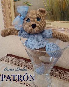 Osita de colección # Osita Amigurumi # Amigurumis Bear # osita a crochet # ganchillo # Me encontrarás en: https://www.etsy.com/es/listing/195481397/osita-de-coleccion-patron-amigurumi-en?ref=listing-shop-header-1 Y en: ositosdulcess@gma...
