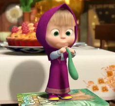masha gif Cute Cartoon Pictures, Emoji Pictures, Gif Pictures, Animated Emoticons, Animated Gif, Arte Disney, Disney Art, Bear Gif, Birthday Clips