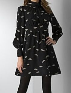 dd7588201a9c2c Tibi Black and Grey New Feather Print Silk Above Knee Night Out Dress Size  12 (L) 74% off retail