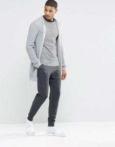ASOS BRAND ASOS Loungewear Skinny Joggers In Charcoal