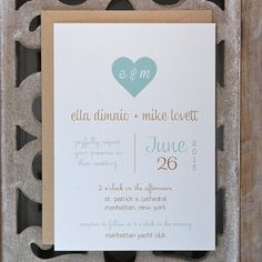 Wedding Invitations . Wedding Invites . par SweetBellaStationery, $2.50