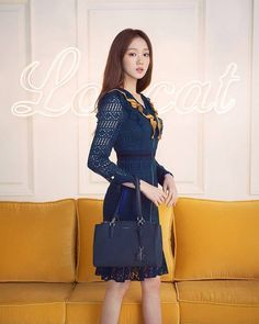 Korean Actresses, Asian Actors, Korean Actors, Lee Sung Kyung Fashion, Ulzzang Girl, Most Beautiful Women, Korean Fashion, High Neck Dress, Dresses For Work