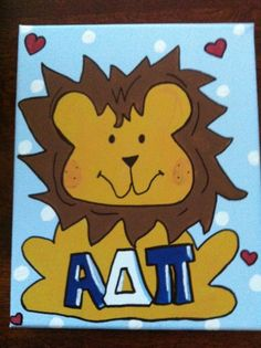 "Alpha Delta Pi ""Alphie"" canvas - can be personalized"