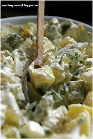 Z zapachem wanilii we włosach...: sałatka ziemniaczana - nic dodać, nic ująć Potato Salad, Grilling, Rice, Potatoes, Chicken, Ethnic Recipes, Food, Diet, Recipes