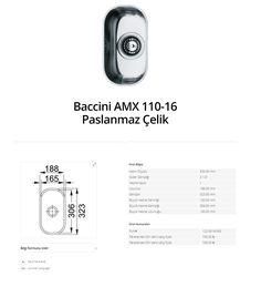 Baccini AMX 110-16 Paslanmaz Çelik franke  franke Baccini AMX 110-16 Paslanmaz Çelik