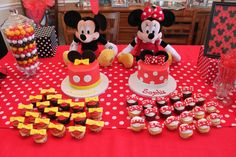 Mickey and Minnie First Birthday Cakes by Sweet Tweets Cakery.