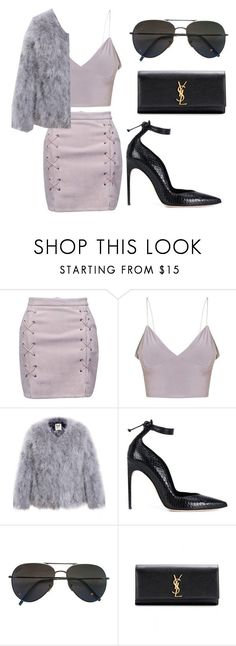 """""""Untitled #937"""" by arianas12 ❤ liked on Polyvore featuring WithChic, Brian Atwood, Gucci and Yves Saint Laurent"""