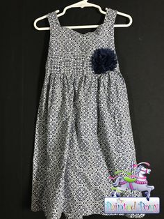 Girls navy and white print sundress by Special Occasion, size 4, $10.99