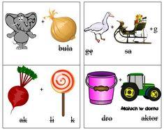 Rebusy dla dzieci: pory roku i zjawiska atmosfertyczne Asd, Montessori, Playing Cards, Education, Games, Children, Character, Speech Language Therapy, Therapy