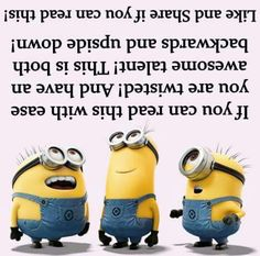About Minions. I love minions Minion Jokes, Minions Quotes, Minion Stuff, Minion Things, Minions Minions, Funny Jokes, Hilarious, Funny Riddles, Ironic Memes