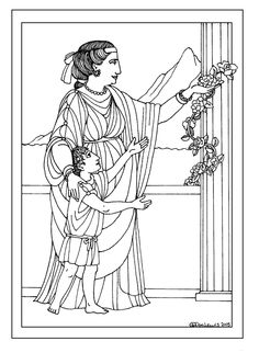 Coloring pages with information behind them