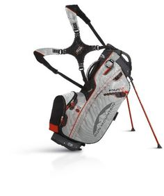 Carry Bag Mens Golf Black Silver Lava
