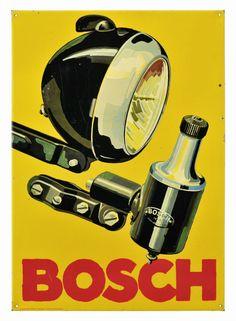 """Blechschild """"Bosch″ Robert Bosch GmbH, Stuttgart 1930 bis 1940"""