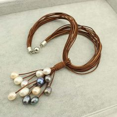 Multi strands pearl necklacefreshwater pearl by WangDesignJewelry