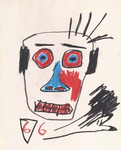 View Untitled (Three Heads) by Jean-Michel Basquiat sold at Century & Contemporary Art Evening Sale on New York Auction 18 May Learn more about the piece and artist, and its final selling price Basquiat Artist, Jean Michel Basquiat Art, Doodle Books, Moon Shadow, Tape Art, Art Walk, Figure Painting, Contemporary Art, Graffiti