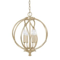 Capital Lighting 4723WG - Bailey 4 Light Pendant, Winter Gold